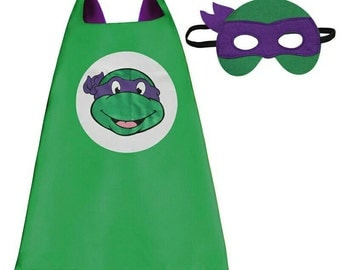 Turtle Ninja Purple Superheroe Cape - Ready to ship from US