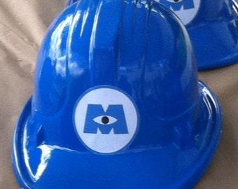 Plastic Monters inc. helmets for parties SET OF 20