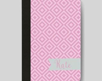 iPad Folio Case, iPad Air Case, iPad Air 2 Case, iPad 1 Case, iPad 2 Case, iPad 3 Case, iPad Mini 1 2 3 4 Case, Pink Diamond Patterned Case
