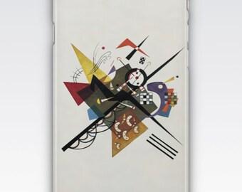 Case for iPhone 8, iPhone 6s,  iPhone 6 Plus,  iPhone 5s,  iPhone SE,  iPhone 5c,  iPhone 7  - On White II by Wassily Kandinsky