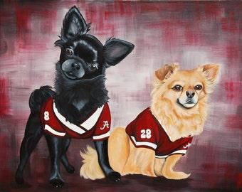 "24"" x 36"" Captivating Custom Pet Portrait | Hand-Painted on Canvas"