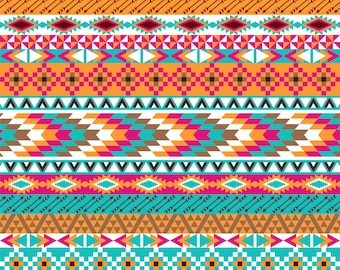 Pattern Vinyl Aztec Printed vinyl- craft vinyl -HTV or Outdoor- Aztec Tribal Pattern-