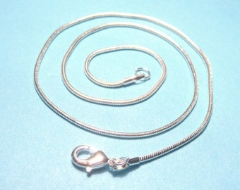 1 Strand Bright Silver Plated Snake Chain Necklace with Lobster Clasp 16''(No.981)