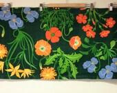 floral pelmet in bright colors 1970s Scandinavian design fabric great colors