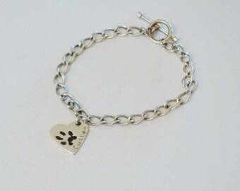 Pawprint Charm Bracelet