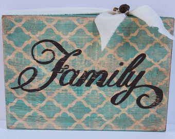 FAMILY Wood Block Shelf Sitter, Caribbean Blue