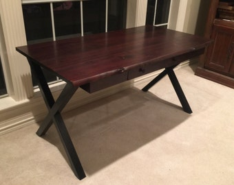Metal Table Legs, Industrial X-Frame Style - Any Size and Color!