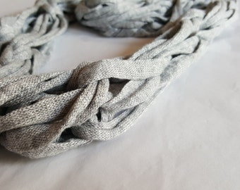 Arm knit scarf grey infinity scarf