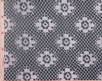 """Lavender Lilac Purple Flower Lace Fabric Polyester 58-60"""""""