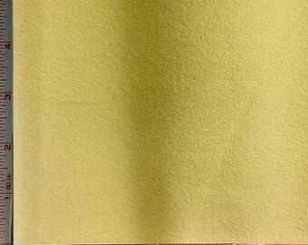 "Light Yellow Pique 1 Side Fleece Fabric 2 Way Stretch Polyester 7 Oz 58-60"""