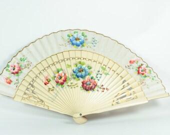 Fan,Silk,Hand painted,Hand fan,Vintage,Hand painted silk fan,Hand painted silk,Vintage fan,Antique Fan,Vintage fan,Fans,Painted hand fan,Fan