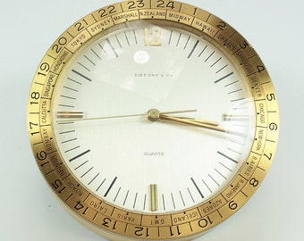 Tiffany Clock ,Vintage Tiffany,Tiffany Desk Clock, Tiffany world Clock,Tiffany office Clock,Tiffany Vintage,Tiffany's Clocks,Tiffany