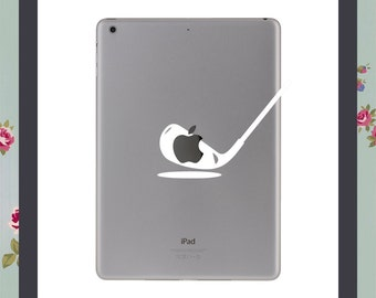 Mac Decal, Golf, Golfer, Apple Macbook and other laptop stickers, iPad decal, iPad Stickers, funny