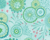 Coral Queen of the Sea Fabric - Moda - One Yard - 20513-12 - Aqua - Coral - Beach - Ocean fabric - Octopus - Whales - Fish - IN STOCK
