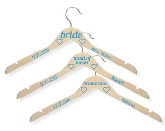 8 Bridal Party Hangers / Bridesmaid Gift / Bridesmaid Hanger with Name / Custom Bridal Hanger Personalized / Wedding Name Hanger Wedding