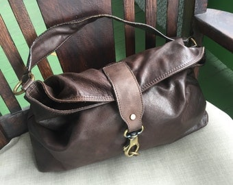 REDUCED! Sundance Italian brown  leather handbag shoulder handbag purse