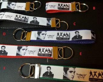 key fob, wristlet, keychain, lanyard - Elvis, King of Rock and Roll - M2007