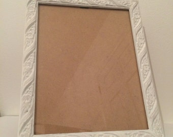 Upcycled vintage frame, Hand-painted, Shabby Chic Decor