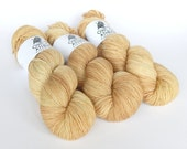 Hand dyed sock yarn, fingering weight yarn, High Twist 75/25 superwash merino wool/nylon - 'Barley' kettle dyed - Romulus Sock yarn