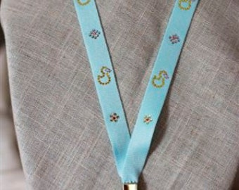 Photo ID Lanyards for Work or School Decorated with Beautiful Swarovski Crystals