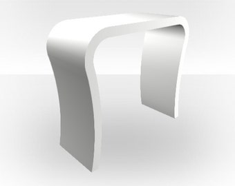 White Matt Console Table - Curved