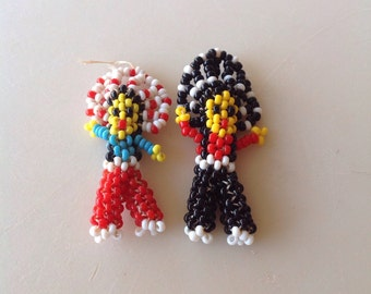 Vintage Beaded American Indian Dolls from the 60's