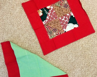 "Christmas Mats two sets / 15""x15"" or 17"" x17"""
