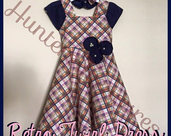 The Retro Twirl Dress: A Vintage Inspired Toddler & Girl Dress That is Both Sassy and Sweet!