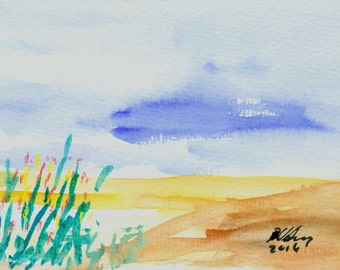 "Watercolor ""on the beach 2"""