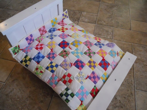 Handcrafted Quilt Checkerboard Pattern 18 Inch Doll