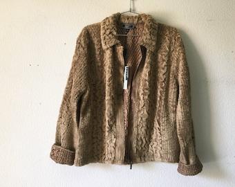 FREE SHIPPING - Vintage 1990's Khaki Reversible Jacket