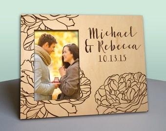 Personalized Anniversary Frame - Newlywed Gift - Anniversary - Personalized Wood Picture Frame - Photo Frame - Valentine Gift - PF1201