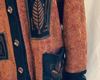 Cozy maple brown long sleeve top