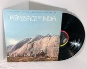A Passage To India Soundtrack vintage vinyl record LP album OOP || 80's Maurice Jarre Film Score