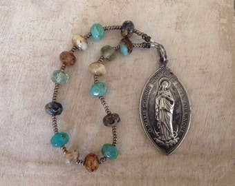 Vintage Immaculate Conception Handmade Catholic Chaplet