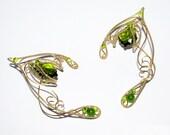 Spirit of Nature Elf Ears, Greenery , elven ear cuff, elven ear wrap, elf cosplay, Nature magic, Green spirit, elvish jewelry