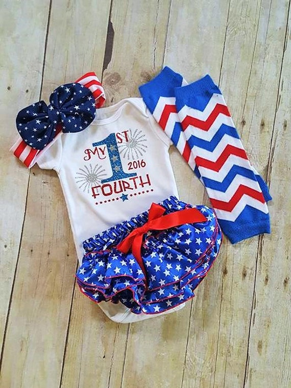 My 1st Fourth 2016 Bloomer Outfit Baby Girl 4th Of July