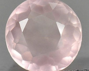 Lot 25 Pieces Rose Quartz Round Faceted Cut Loose Gemstone