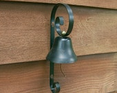 Shop Door Bell, Vintage Black Wall Bell, Vintage School House Bell