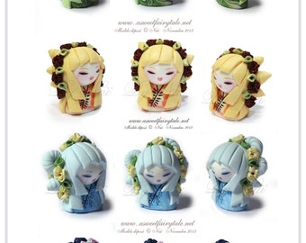 fimo kokeshi doll handmade made to measure