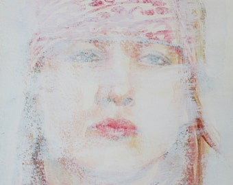 AXL ROSE - original painting portrait - one of a kind!