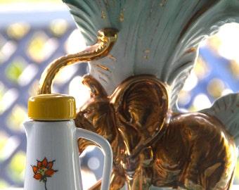 Retro vintage 1970'S Ceramic Carafe - oil, vinegar serving jug