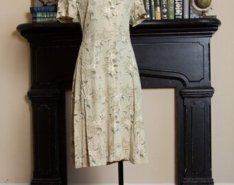 30% Winter Scout Sale Green Floral Short sleeve Dress | Sz. small S