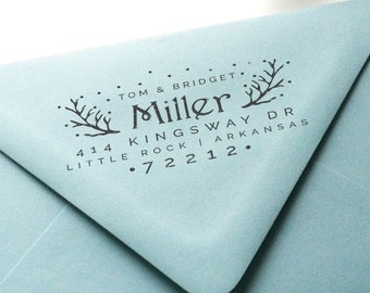 Custom Return Address Rubber Stamp - Holiday No. 1