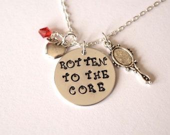 Rotten to the Core Necklace-Queen-Evil Queen-Beastie-Fairytale-Descendants