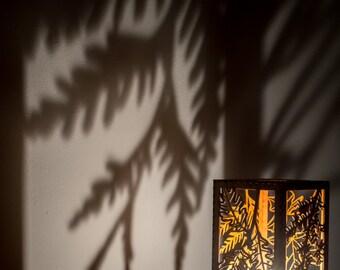 Bigleaf Maple, Western Redcedar, Garry Oak, Western Hemlock, Pacific Dogwood PNW Tree Leaves laser cut wood tea light holder Candle included