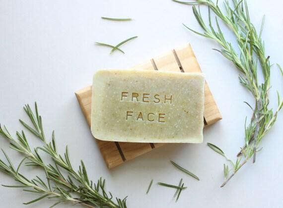 FRESH FACE // Handmade // All Natural // Vegan // Tea Tree // Rosemary // Face Soap