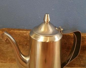 Vintage 1950's Gense Sweden Mid-Century Modern Stainless Steel Coffee Urn