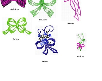 6 different loop embroidery files instantly download instant download