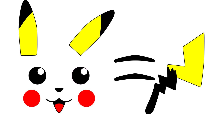 Pikachu face ears back stripes tail pokemon svg file zoom pronofoot35fo Gallery